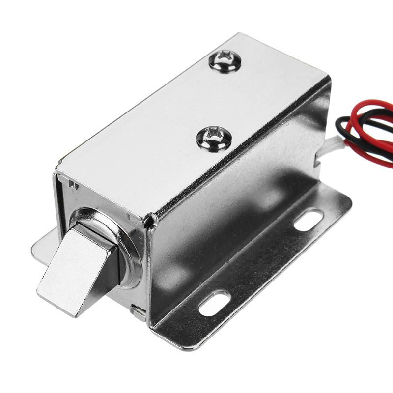 12v Dc 0 83a Electric Lock Assembly Solenoid Cabinet Drawer Door Lock Tongue Latch Hardware Accessories From Tools Industrial Scientific On Banggood Com