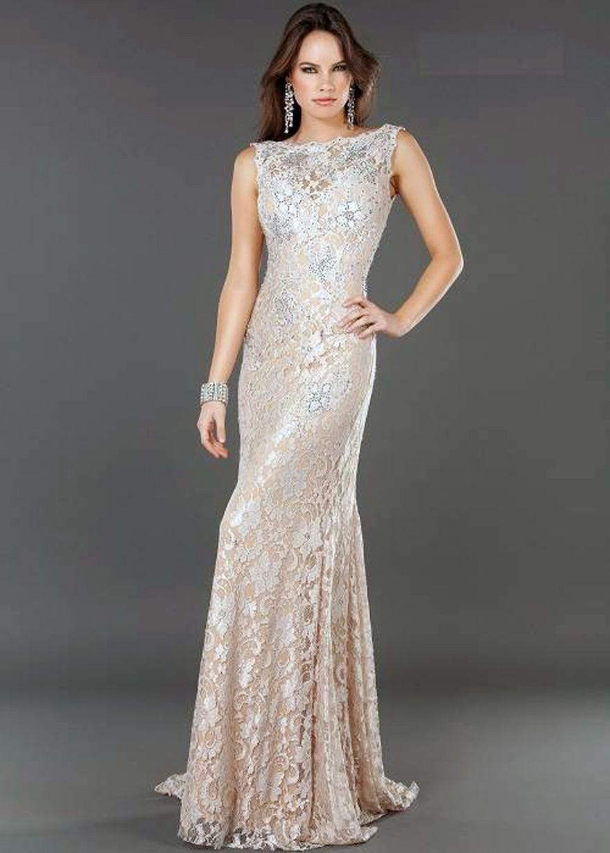 lace evening dress - Dress Yp
