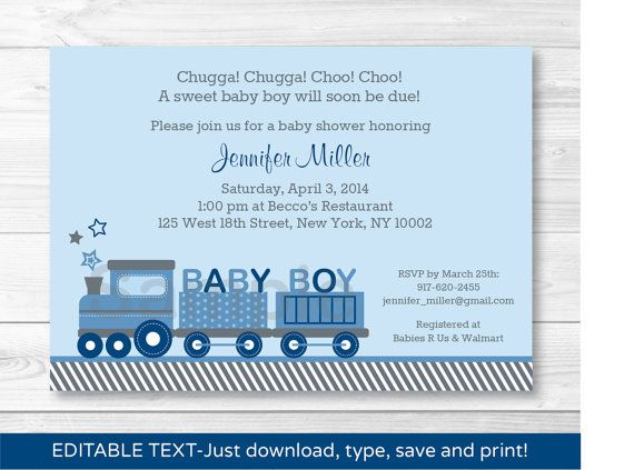 Choo choo train baby shower invitation by littleprintsparties choo choo train baby shower invitation by littleprintsparties filmwisefo