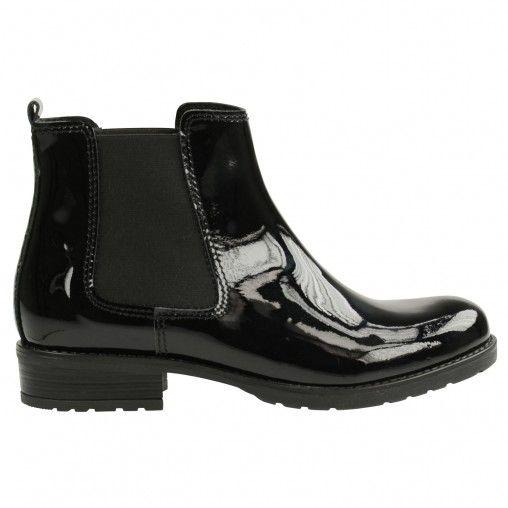 Bottines pour femme/-/Chelsea Boots Bottes en caoutchouc imprim/é Animal/- Talon bloc Chaussures avec motifs Bottines brillantes en caoutchouc par Flandell
