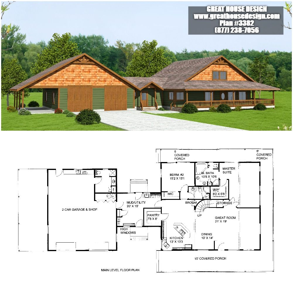 Home Plan 001 3382 Home Plan Great House Design Rancher House Plans House Plans Rancher Homes