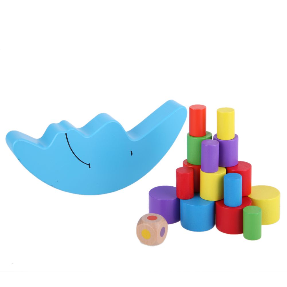 19pcs Set Moon Shape Balancing Toy Building Blocks Baby Early Learning Balance Training Toy Wood Educational Toys K5bo Educational Toys Building Toys Toys
