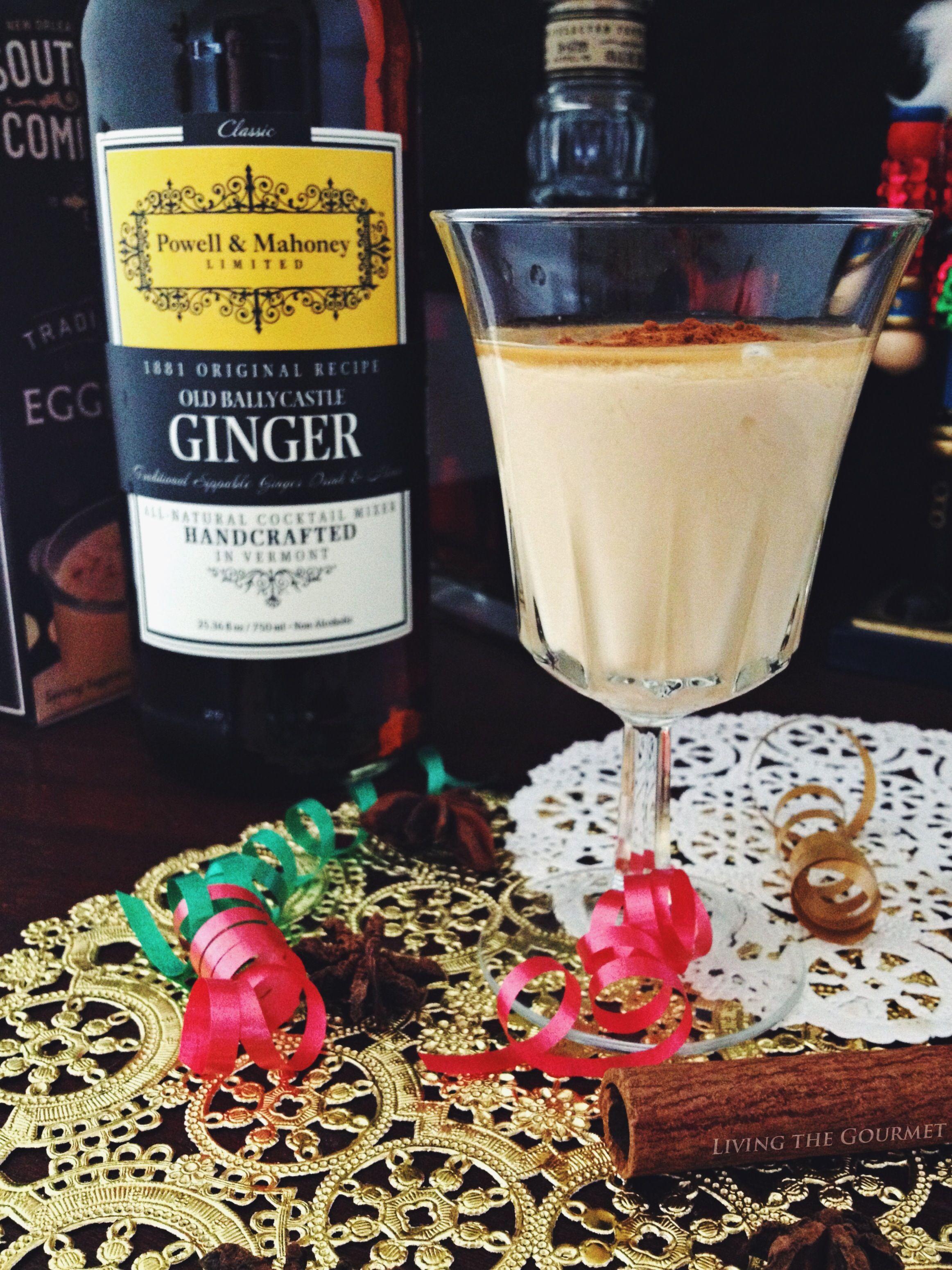 Spiced Ginger Eggnog Recipe Eggnog Southern Comfort Eggnog