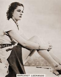 Margaret Lockwood cigarette card.  Real Photographs number 35 (front)
