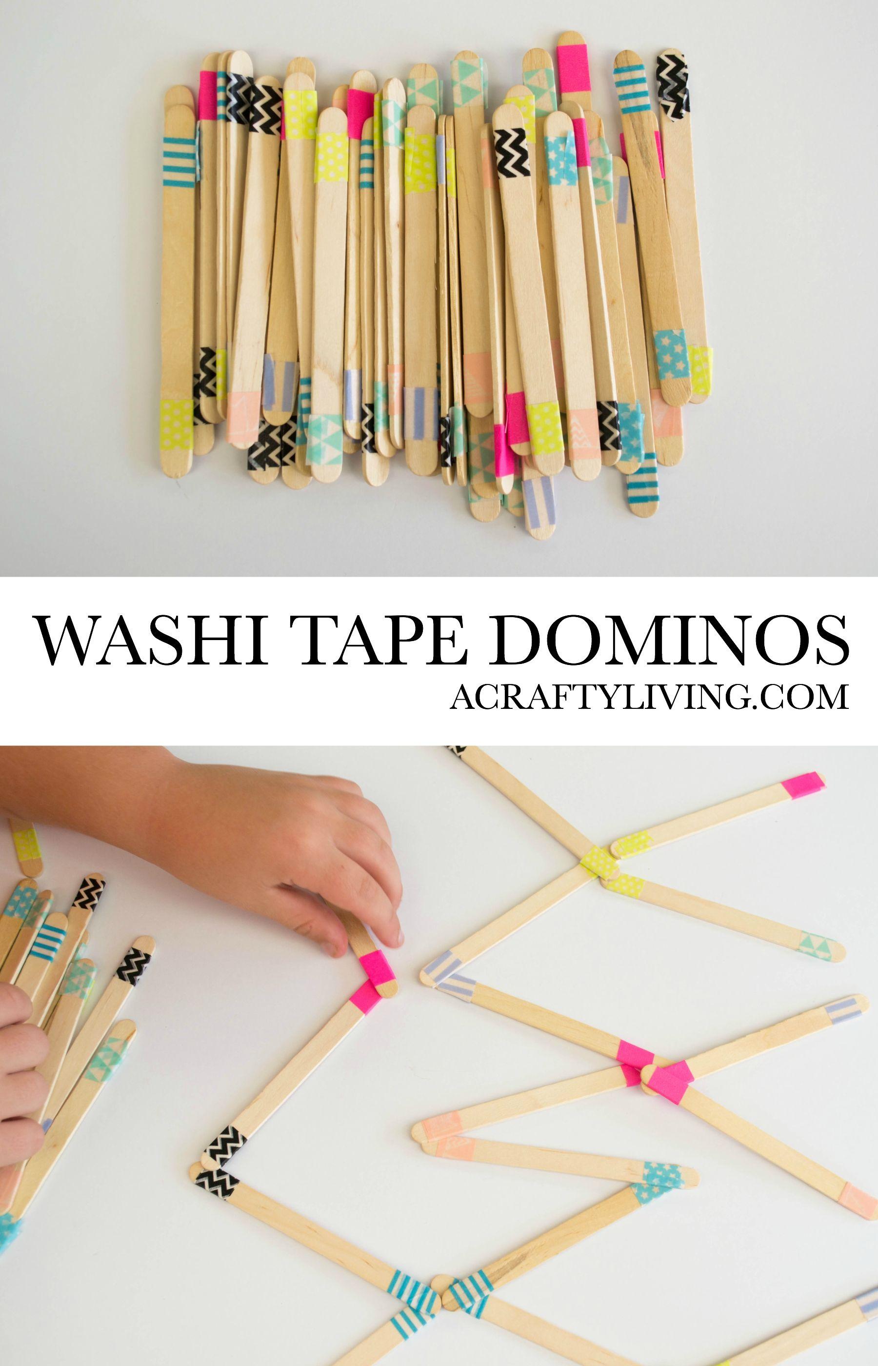 Kid Made Washi Tape Dominos | Washi Tape Fun | Pinterest | Washi ...