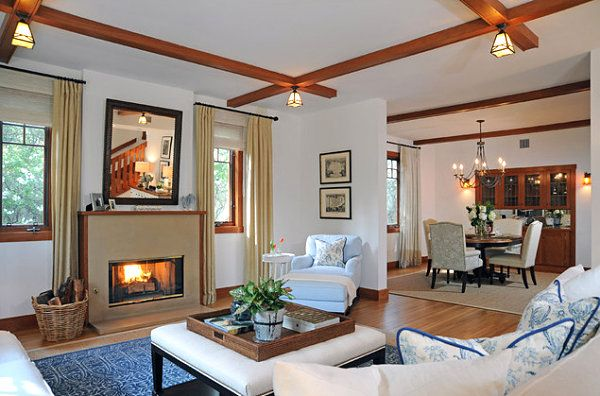 21 beautiful craftsman living design ideas arts crafts style craftsman style homes for Craftsman style living room furniture