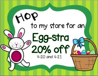 Jamie Parker on TpT--20% off Easter Sale!
