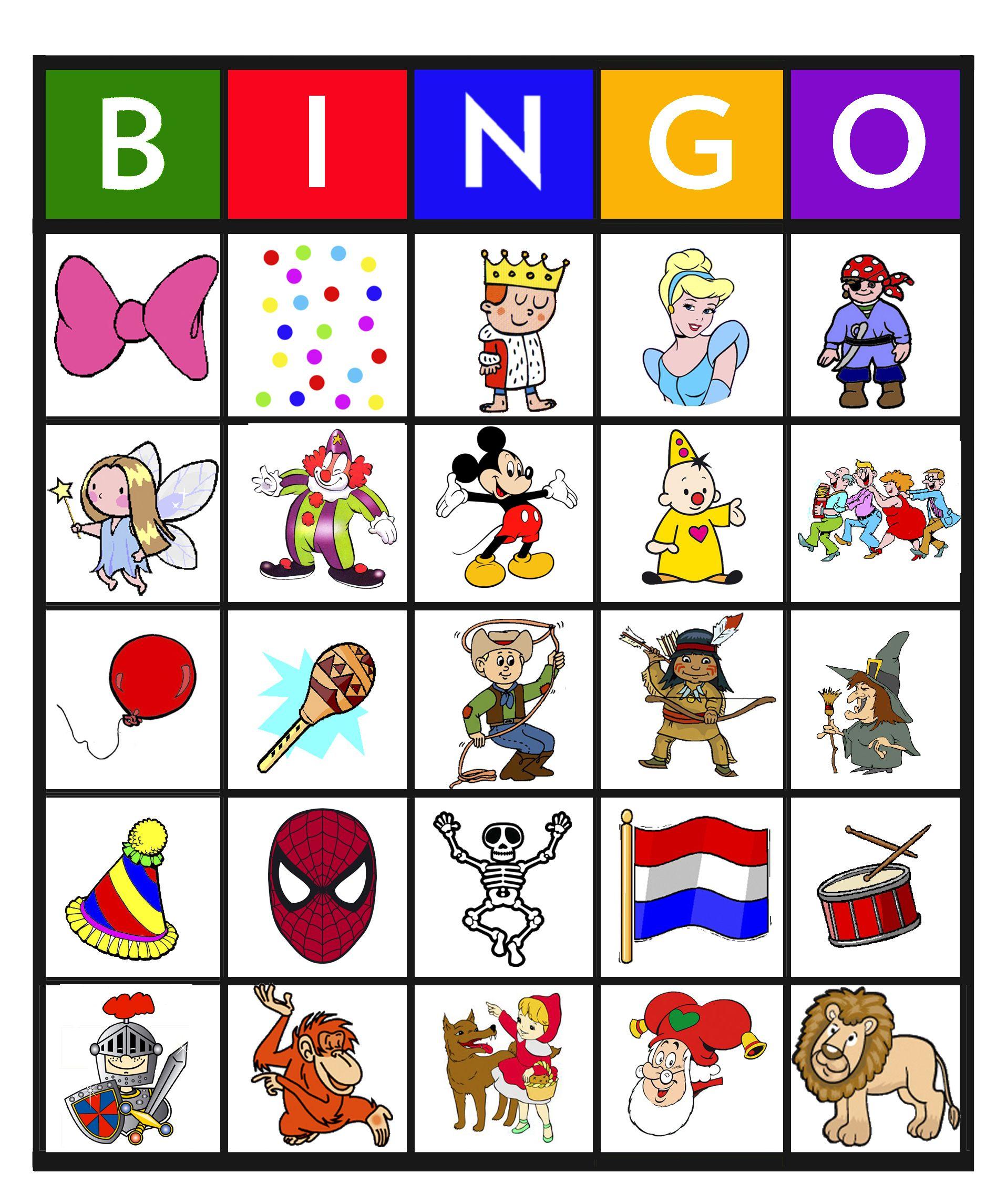 Bingo Carnaval 9 25 Carnaval Spelletjes Kinderen Carnaval Spelletjes Carnaval