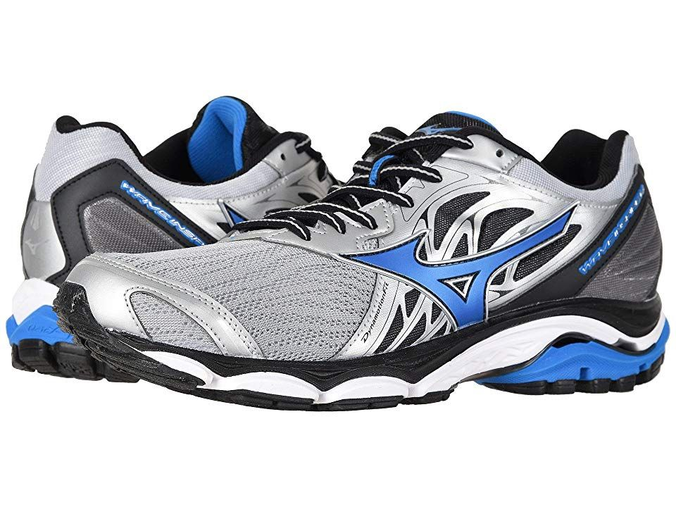 Mizuno Wave Inspire 14 Silver Directoire Blue Men S Running Shoes Enjoy A Smoother Ride With The Durable And Flexible Running Shoes For Men Shoes Boys Shoes
