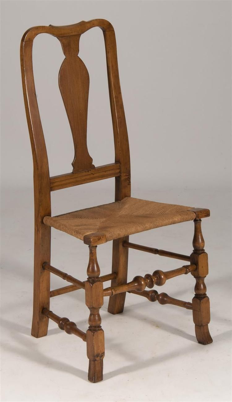 Queen anne chair history - Antique American Queen Anne Chair Mid 18th Century In Maple Back With Carved Crest