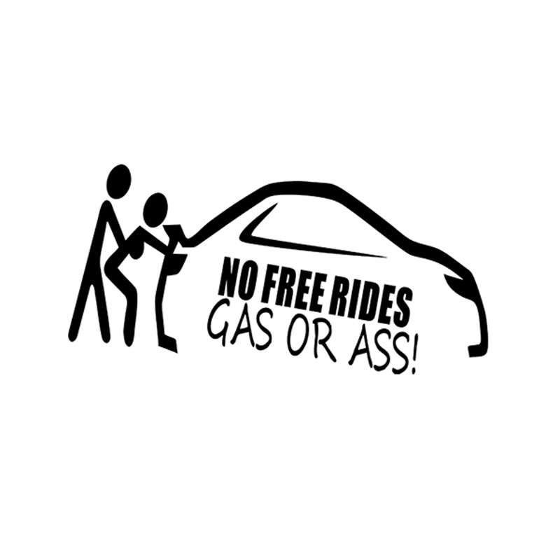 Gass Or As* No Free Rides Decal Funny Car Vinyl Sticker Euro JDM  Window Turbo
