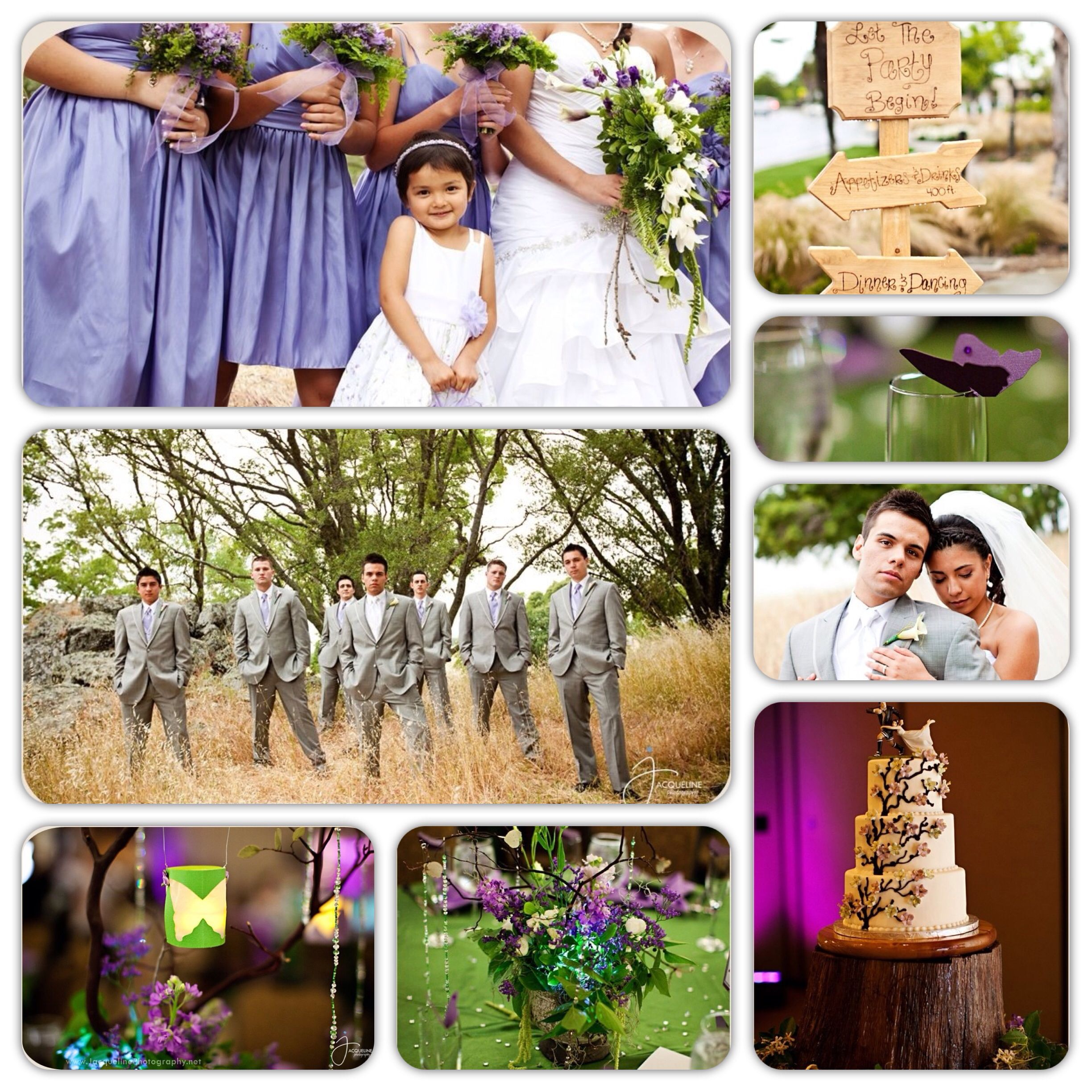 Purple Wedding Ideas With Pretty Details: Purple And Green Wedding. Enchanted Forest Theme. DIY