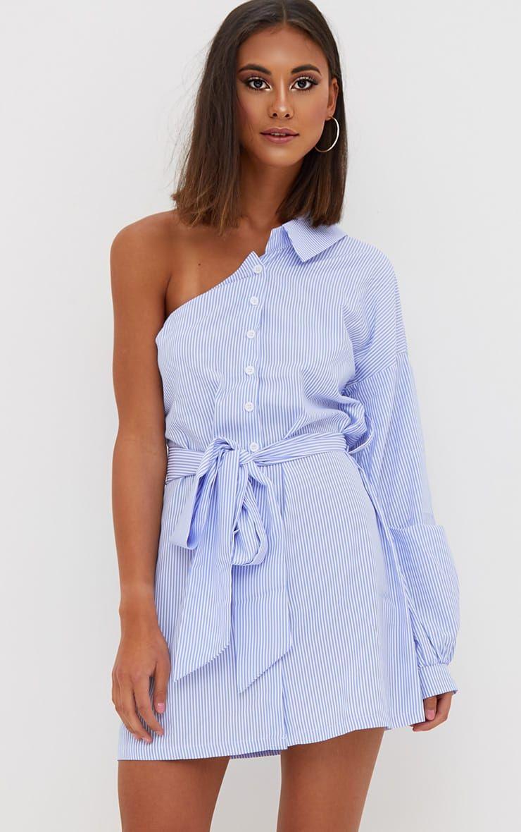 robe chemise bleue rayure paule d nud e mode pretty little thing pinterest chemises. Black Bedroom Furniture Sets. Home Design Ideas