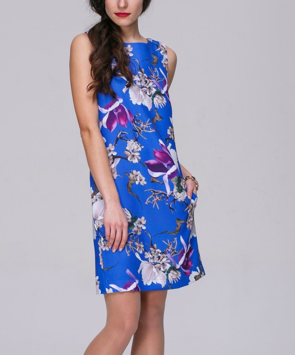 7a509558 Take a look at this Cobalt Floral Sleeveless Sheath Dress - Women today!