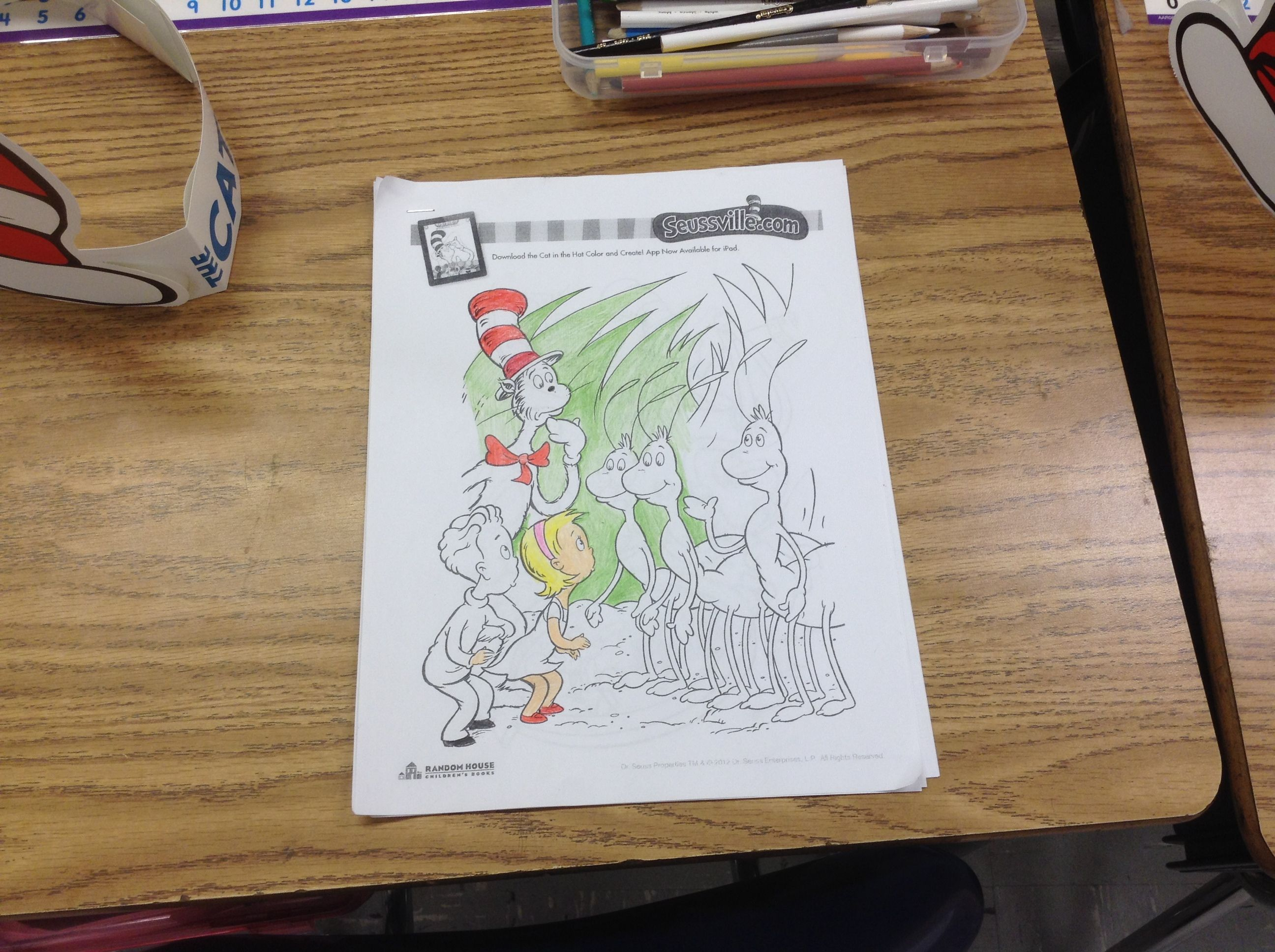 Our Students Love Coloring Dr Seuss Coloring Pages