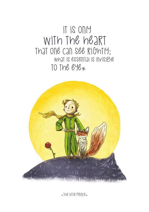 The Little Prince Poster, Illustrations, Typography, Wall Hanging ...