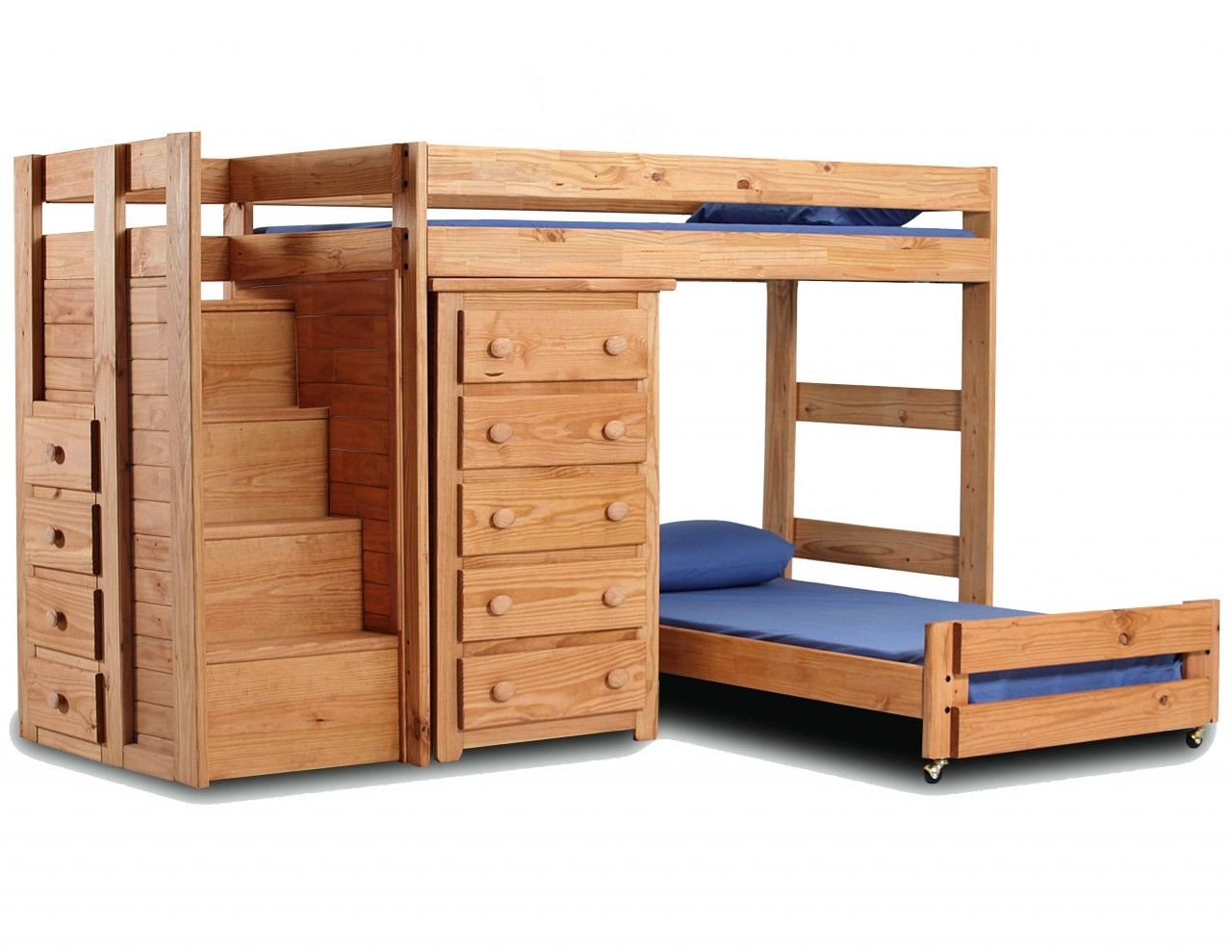 Pine loft bed with desk  TwinTwin Loft Bed with Chest Solid Pine  Where the Kids Be