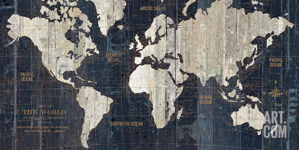 Old world map blue art crush popular pieces pinterest room old world map blue gumiabroncs Choice Image