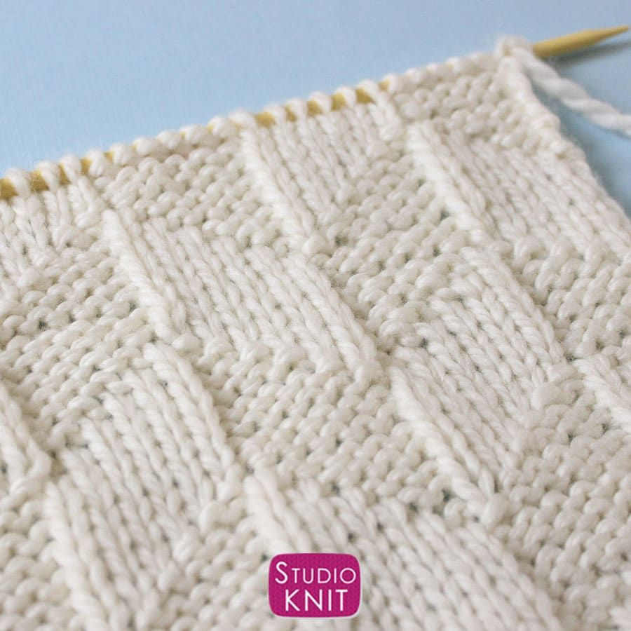 Photo of Parallelogram Stitch Knitting Pattern for Beginners | Studio Knit