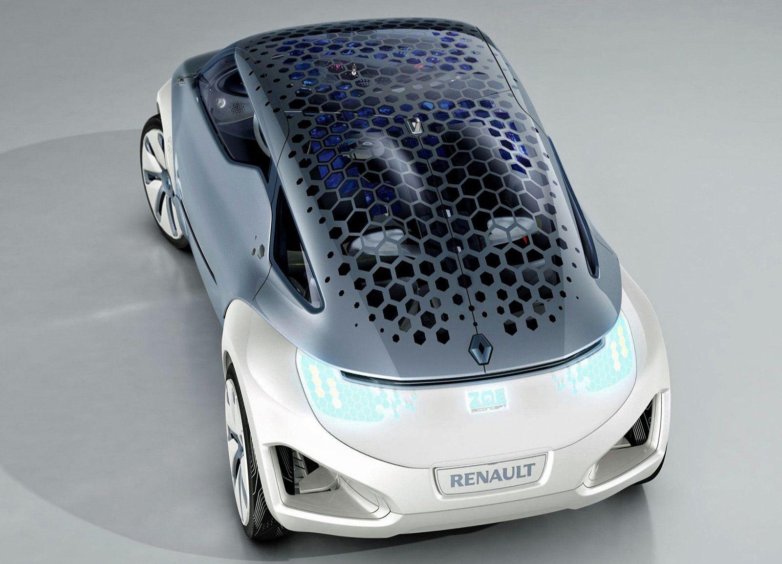Zoe Concept Honeycomb Solar Roof Image Renault Renault Zoe