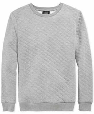 Macy's WeSC rinko solid quilted fleece pullover