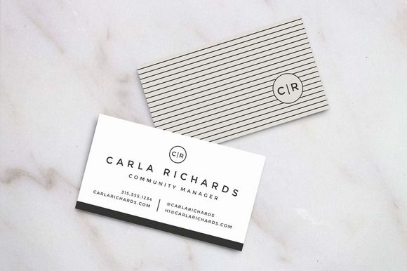 Check out Modern Business Card Template by Refinery Resume Co. on ...