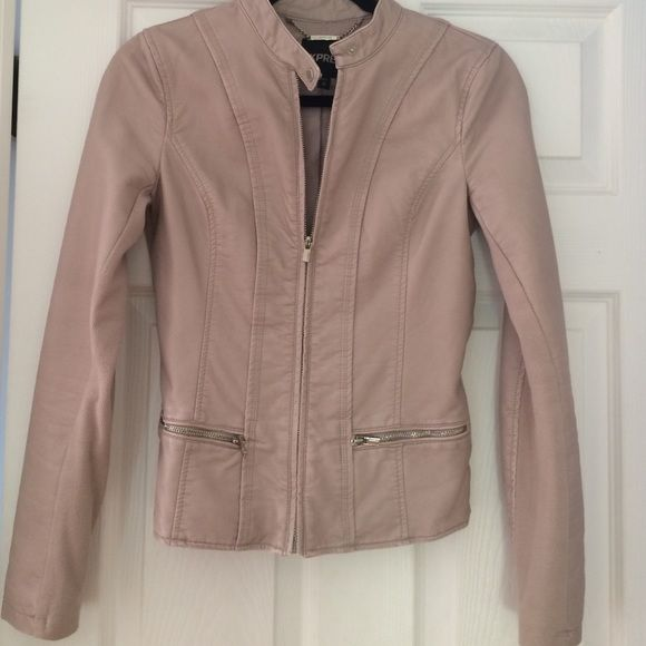 Express Leather Beige Jacket My Posh Picks Jackets Leather