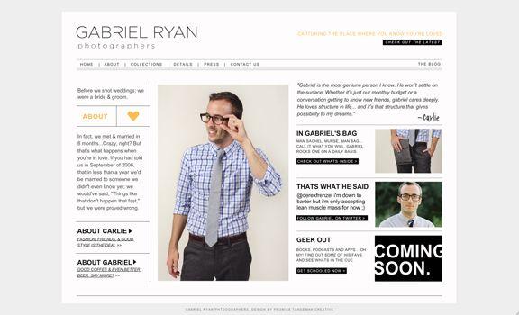 webdesign inspired by fashion magazine layout