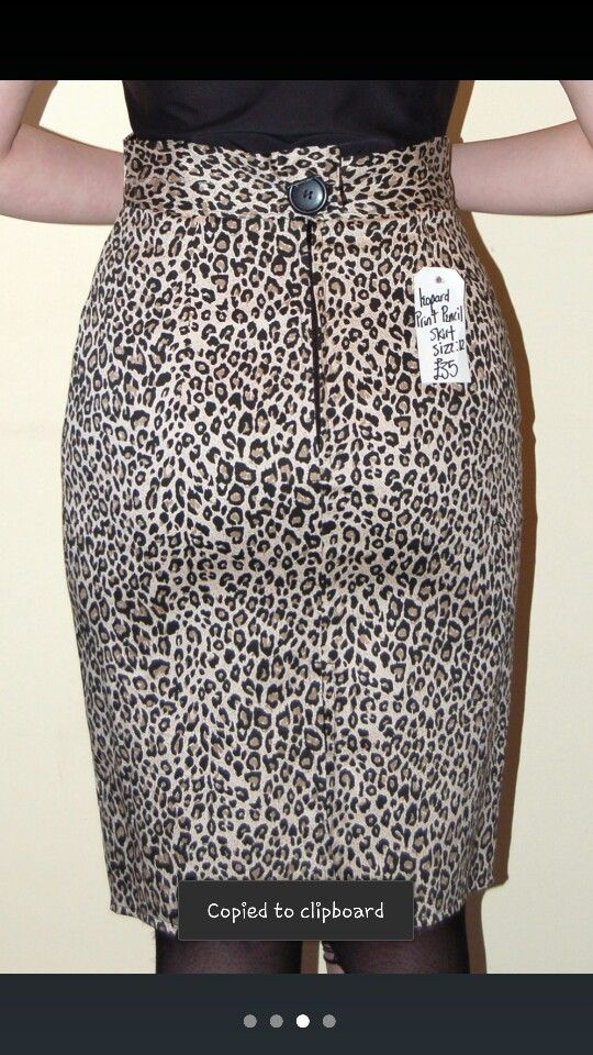 Leopard wiggle skirt