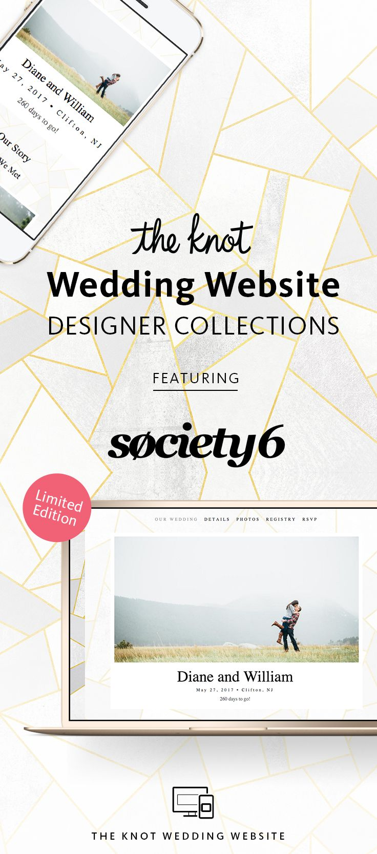Build your own free wedding website with a customized look
