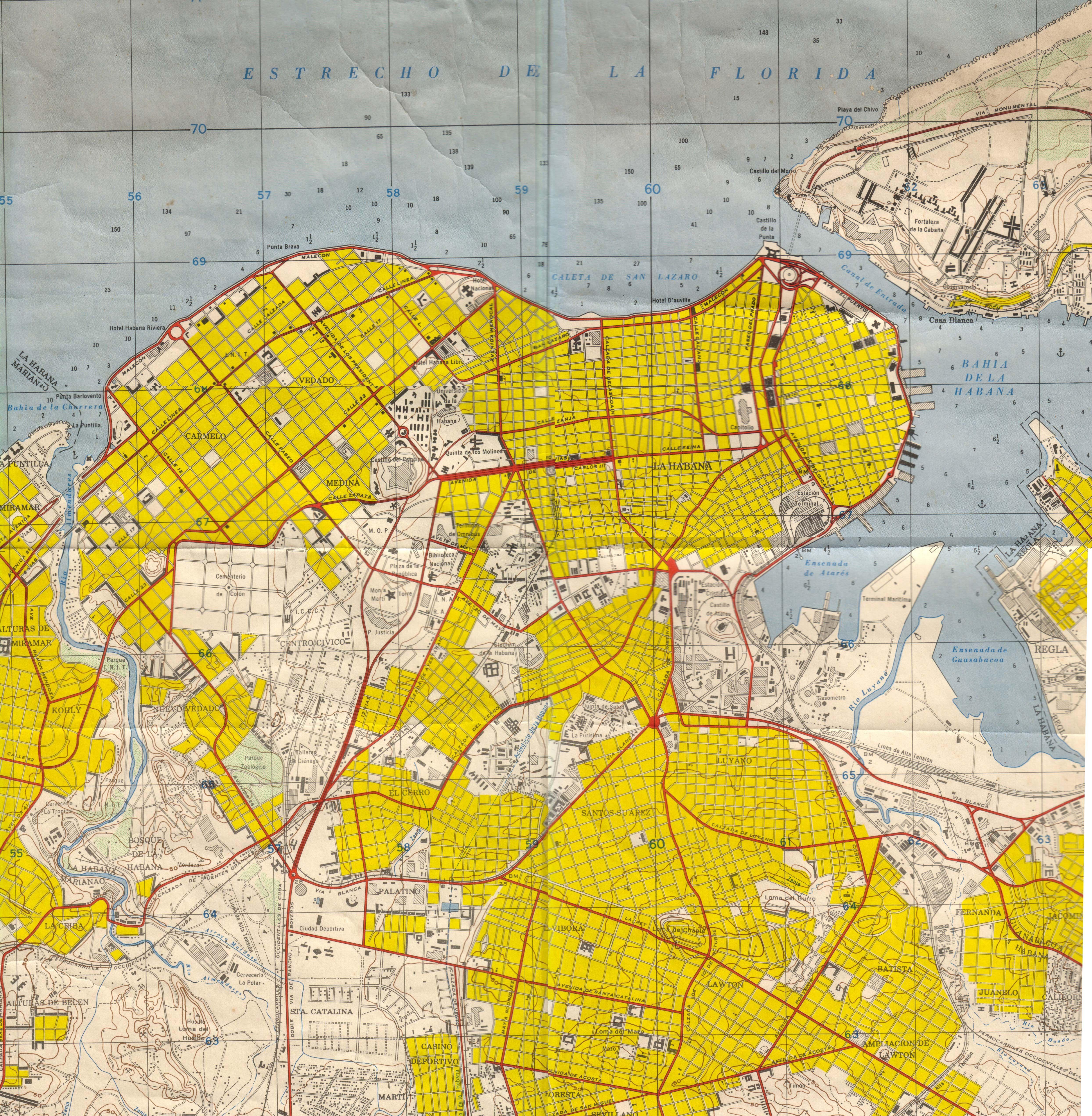 Mapa habana 1960eg 49765088 planos de la habana pinterest mapa habana 1960eg 49765088 gumiabroncs Images