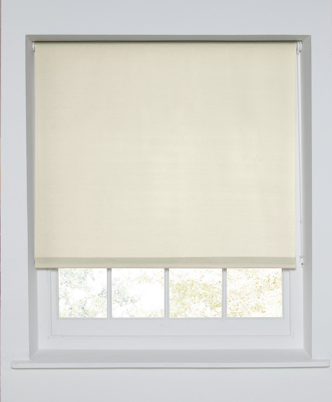 Cream Argos Home Blackout Roller Blind 2ft
