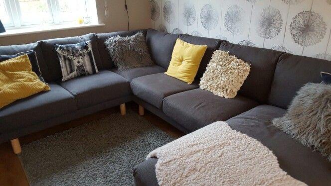 ikea norsborg sofa movie room pinterest. Black Bedroom Furniture Sets. Home Design Ideas