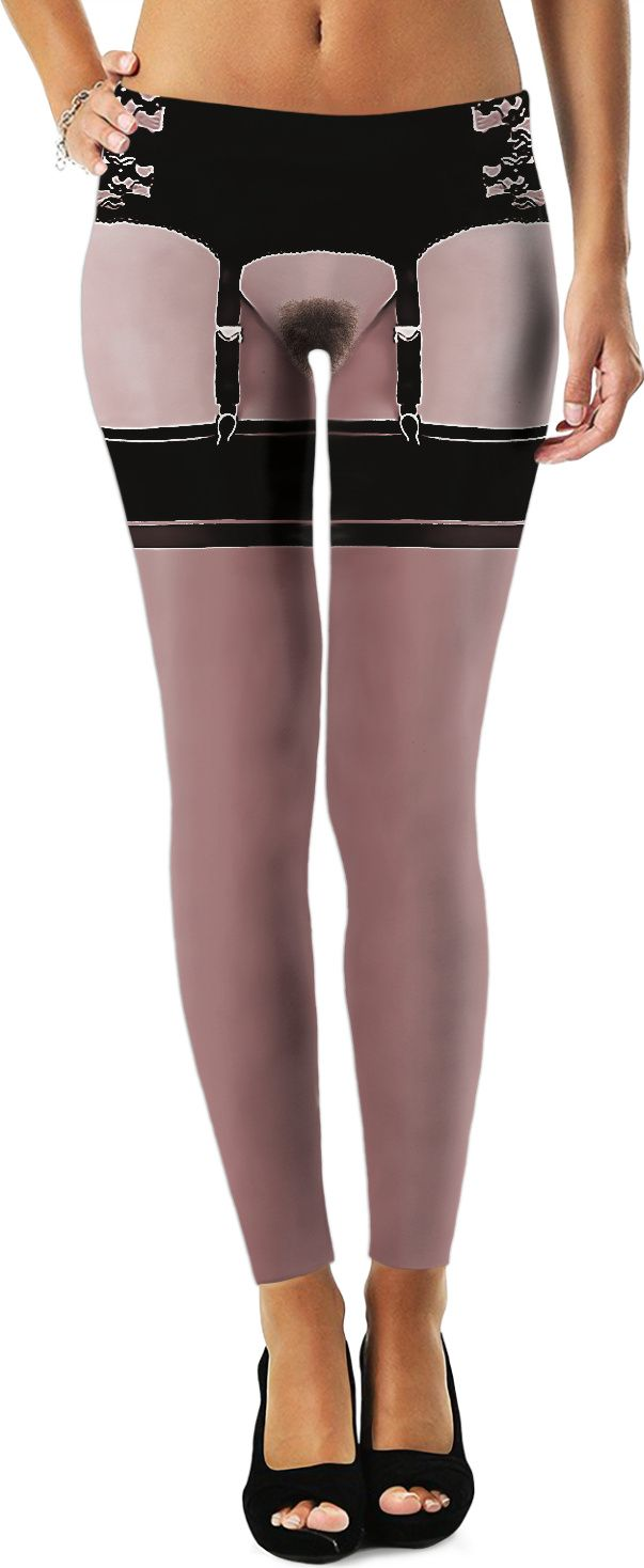 Will You Dare To Wear It Kinky Leggings With Fake Pubic Hair