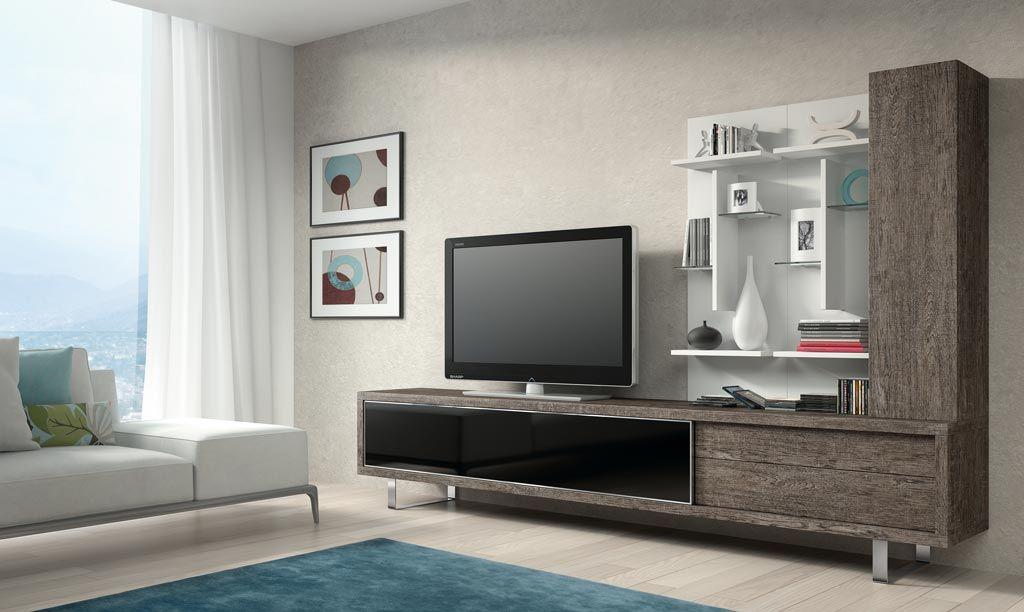 Composici n de muebles de dise o moderno para sal n ideal - Salones modernos pequenos ...
