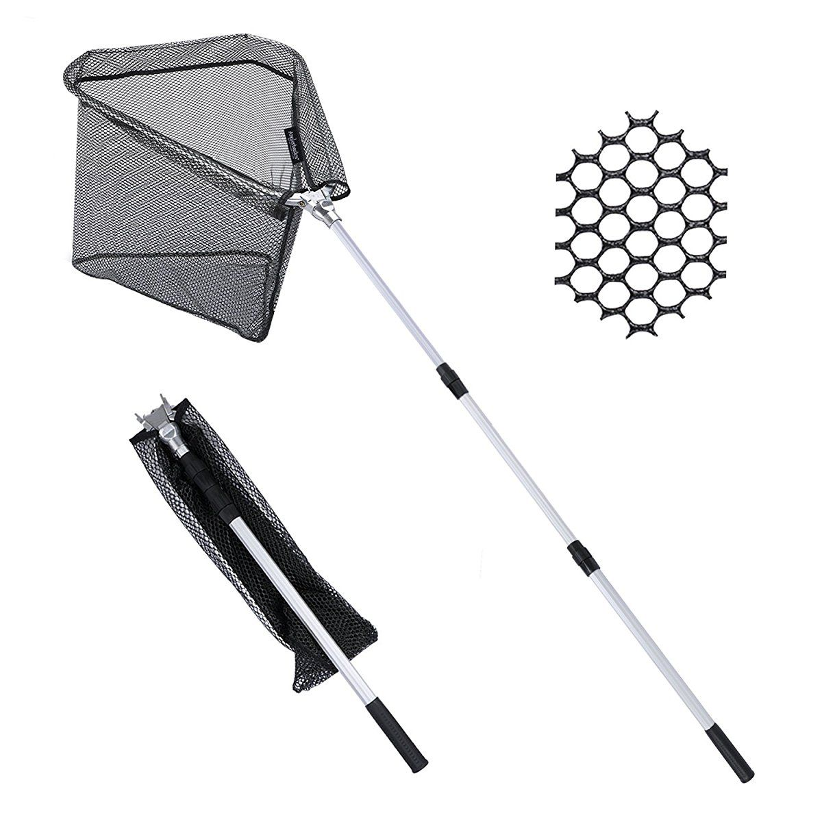 Image result for Folding Landing Fishing Net with Extending Telescopic Pole