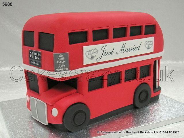 Routemaster Bus Wedding Cake Classic London Icon This Novelty Shaped Decorated In The Por Transport Red