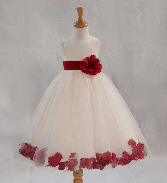 Cheap Red Flower Girl Dresses