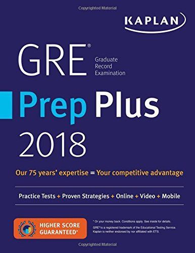 Gre Prep Plus 2018 Practice Tests Proven Strategies Online Video Mobile Kaplan Test Prep Gre Prep Gre Book Prep Book