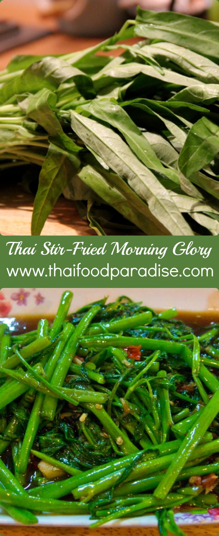 Morning glory otherwise known as water spinach is a wonderfully check out this wonderfully quick and easy recipe for stir fried morning glory thai style also known as pad pak boong this is a simply delicious thai dish forumfinder