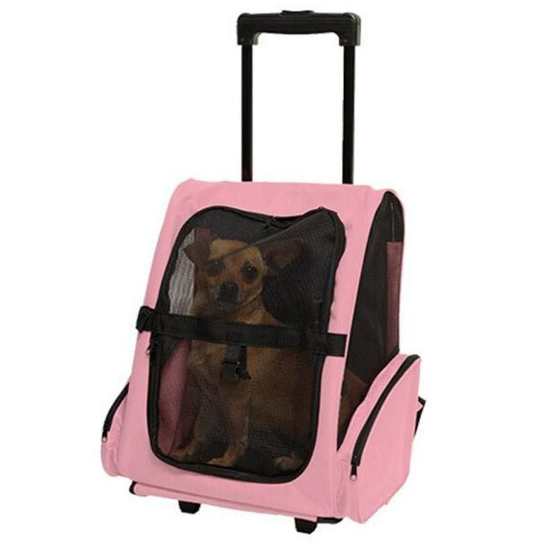 Pet Dog Carrier Trolley Bag Wheel Luggage Stroller Backpack Gift For Small Cat Dogs Travel Tote Bag Air Box Pet Backpack Carrier Pet Travel Bag Pet Bag