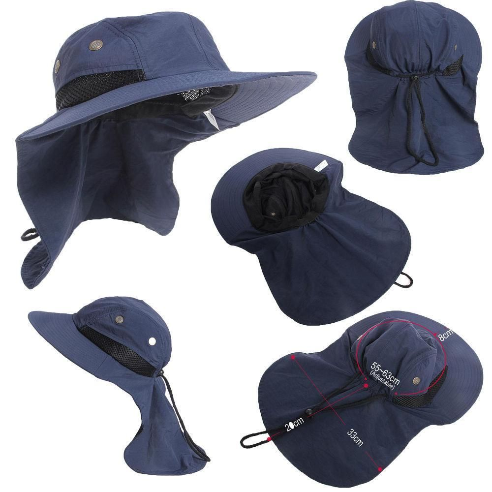 bdb6800a8 Boonie Hat Fishing Hiking Safari Outdoor Sun Brim Bucket Bush Cap ...