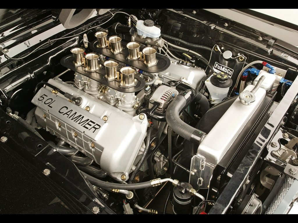 1965 Ford Mustang Cammer Engine Bay Mostly Cars