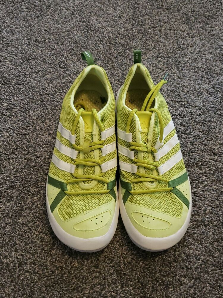 Sacrificio Conejo exilio  Adidas Mens US 9 Lime Green Climacool Water Grip Boat Lace Up Shoes | eBay  in 2020 | Adidas men, Lace up shoes, Adidas