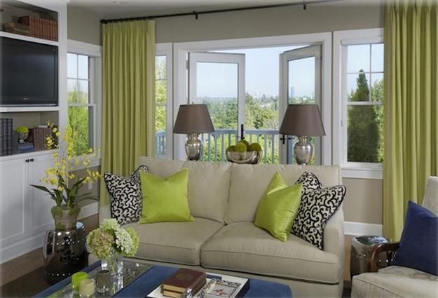 Quick Room Makeovers Lush Spring Decorating With Flowers And Indoor Plants Living Room Grey Living Room Green Green And Blue Living Room