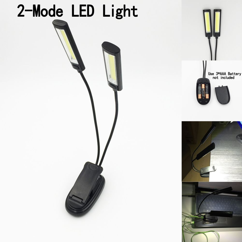 New Mini LED Clip On Adjustable Book Reading Light Super Bright For Kindle Touch