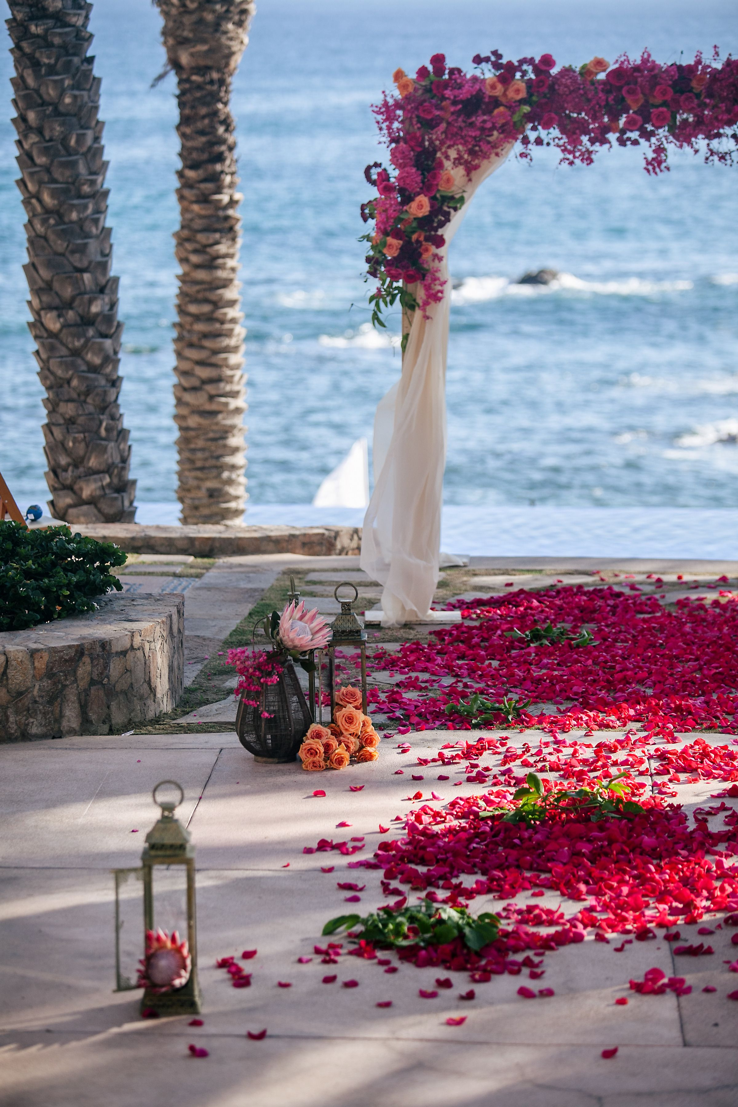 Colorful Cabo Wedding Cabo weddings, Wedding archway