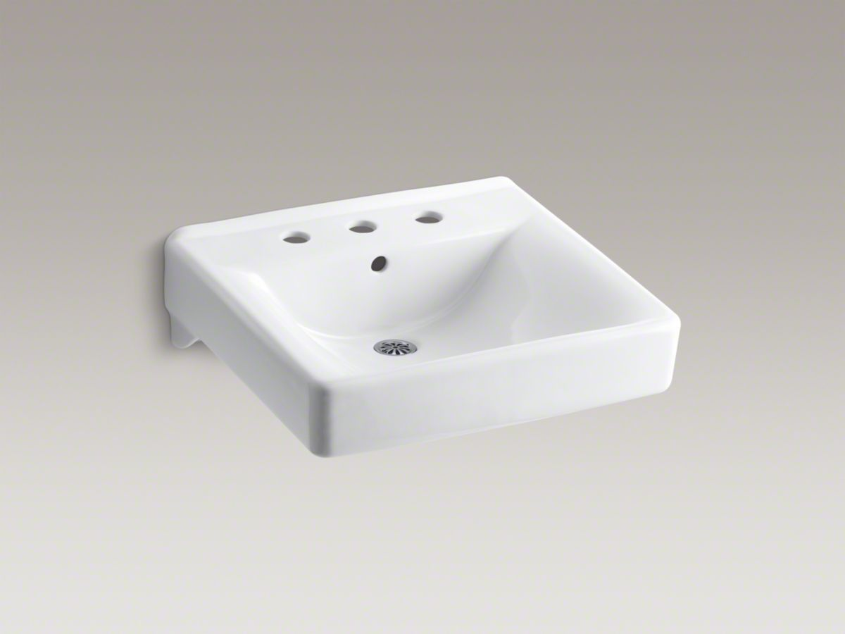 Delightful Kohler   Soho® Wall Mounted Or Concealed Carrier Arm Mounted Commercial  Bathroom Sink With Centerset Faucet Holes. For Use In The ADA Stalls.