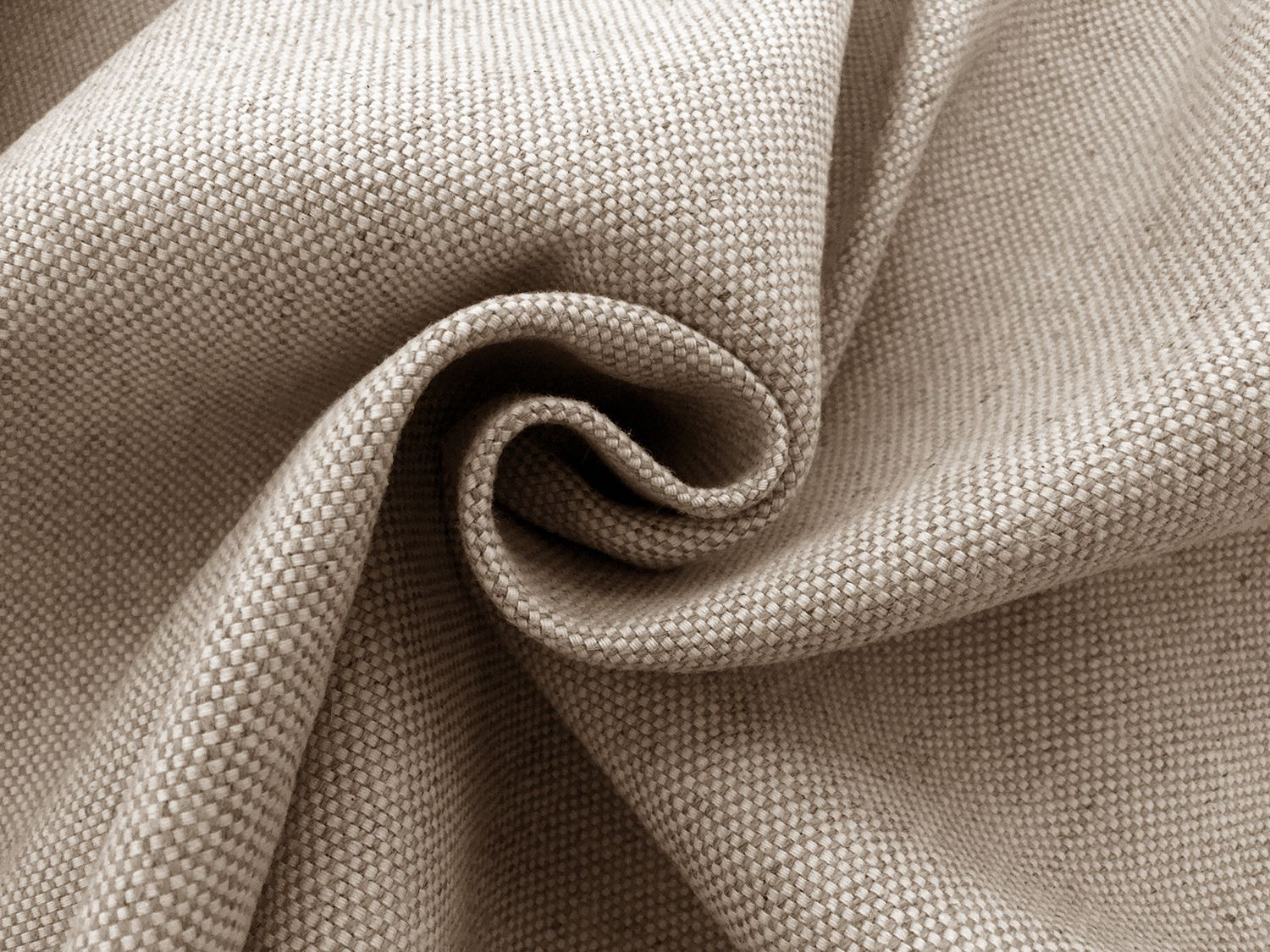 Tumbled Linen Cotton Upholstery In Oatmeal Upholstery Fabrics