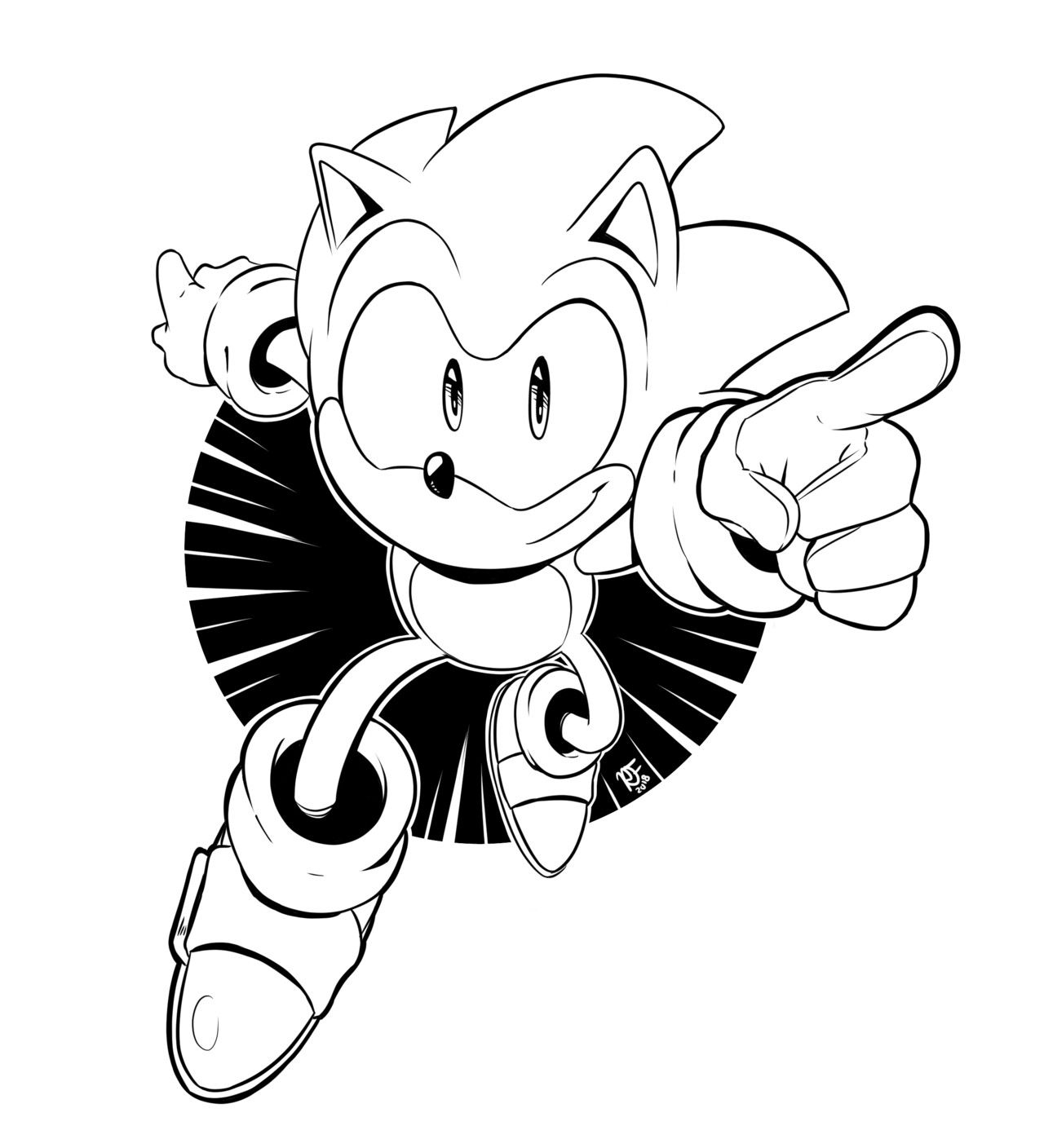Sonic The Hedgehog By Jay Classic Sonic Sonic Inktober